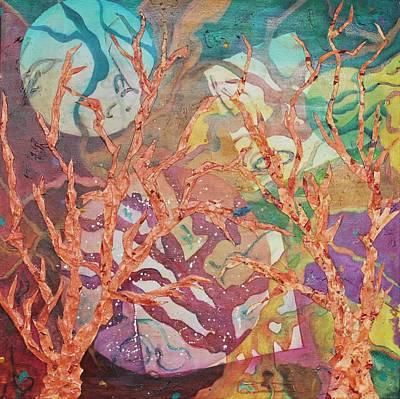 Subterranean Painting - Naranja Trails by Clara K Johnson