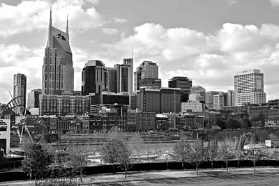 Nashville Black And White Art Print