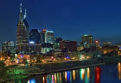 Nashville Cityscape Art Print by Patrick Collins