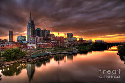 Downtown Nashville Photograph - Nashville Tn Skyline  by Jeremy Holmes