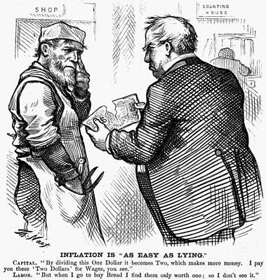 Nast Inflation Cartoon Art Print by Granger