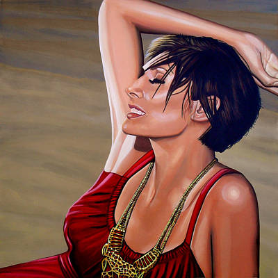 Torn Painting - Natalie Imbruglia Painting by Paul Meijering