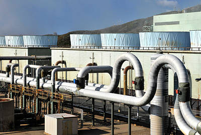 Steam Turbine Wall Art - Photograph - Ncpa Geysers Geothermal Power Plant by Theodore Clutter