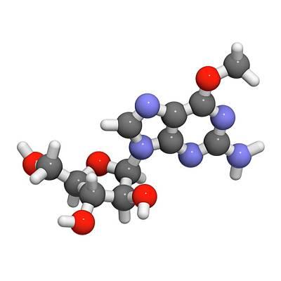Nelarabine Leukemia Drug Molecule Art Print