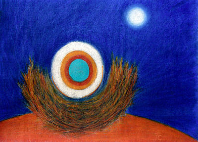 Nesting Moon Art Print