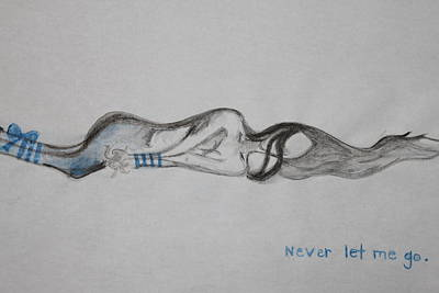 Love Poetry Drawing - Never Let Me Go by Rebecca Kirschbaum