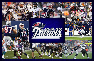 New Goals Photograph - New England Patriots by Joe Hamilton