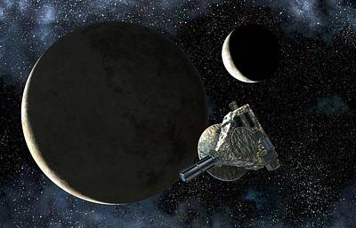 Space Exploration Photograph - New Horizons At Pluto by Take 27 Ltd