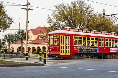 Nola Photograph - New Orleans Streetcar by Steve Harrington