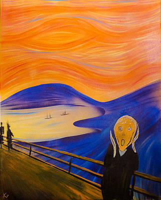 Edward Munch Painting - The Scream by Kyle Geseking
