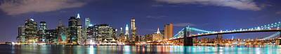 Photograph - New York City Manhattan Skyline Panorama by Songquan Deng