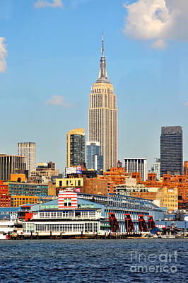 New York City Skyline Photograph - New York City Skyline With Empire State by Kathy Flood