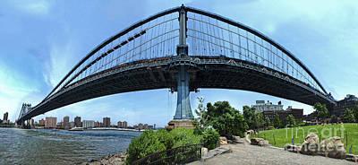 Photograph - New York - Manhatten Bridge Overpass by Gregory Dyer