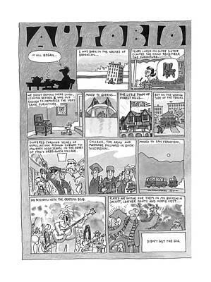 Literature Drawing - New Yorker December 7th, 1998 by Jack Ziegler