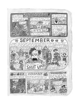 Kathleen Drawing - New Yorker December 7th, 1998 by Roz Chast