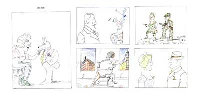 Montage Drawing - New Yorker February 20th, 1995 by Saul Steinber