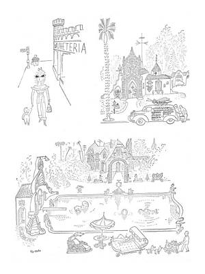 Fun Drawing - New Yorker January 27th, 1951 by Saul Steinberg