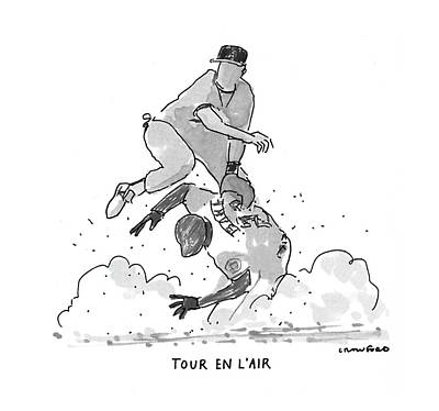 Sports Drawing - New Yorker July 19th, 1993 by Michael Crawford