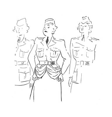 Marching Drawing - New Yorker July 4th, 1942 by Garrett Price