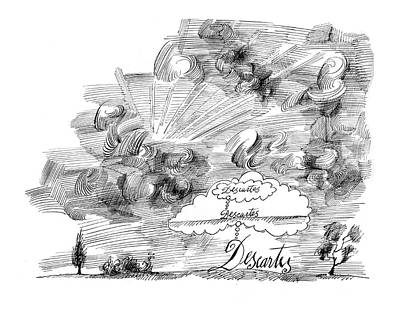 Balloons Drawing - New Yorker November 7th, 1964 by Saul Steinberg