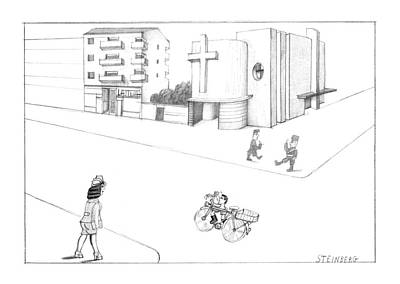 New Yorker October 7th, 1974 Art Print by Saul Steinberg
