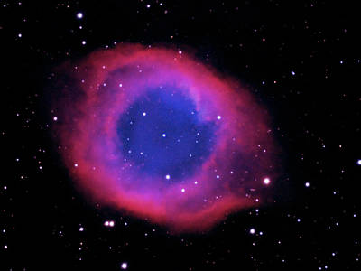 Photograph - Ngc 7293 The Helix Nebula by Alan Vance Ley