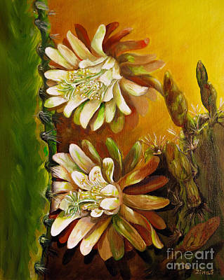 Night Blooming Cereus Painting - Night Blooming Cereus by Zina Stromberg