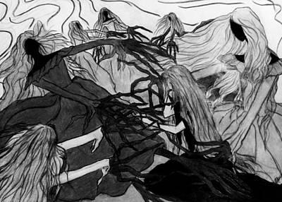 Tear Drawing - Nightmare by Donatella Muggianu
