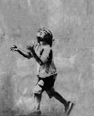 Famous Stencils Photograph - No Ball Games  by A Rey