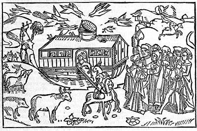 Noahs Ark, 16th-century Bible Art Print by King's College London