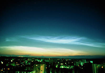 Noctilucent Clouds Art Print by Pekka Parviainen/science Photo Library