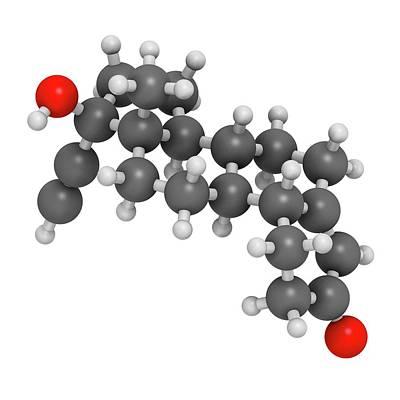 Norethisterone Drug Molecule Art Print