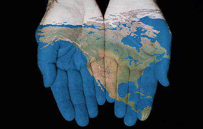 North America In Our Hands Art Print