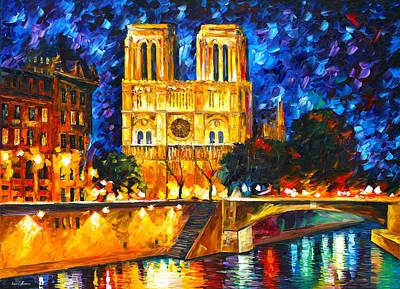 Notre Dame De Paris Art Print by Leonid Afremov