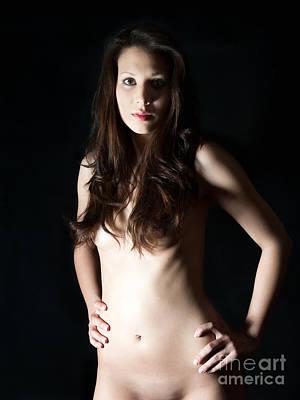 Body Photograph - Nude Brunette by Jochen Schoenfeld