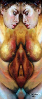 Digital Art - Nude Colorado Series by Rafael Salazar