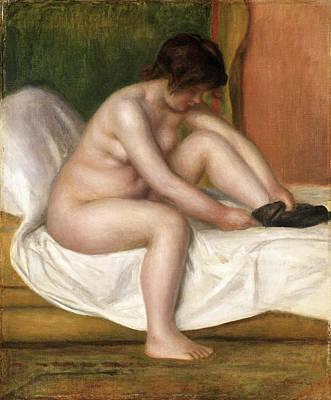 Nude Renoir Painting - Nude by Pierre-Auguste Renoir