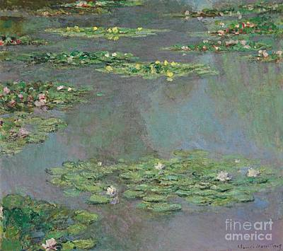 Lilies Painting - Nympheas by Claude Monet