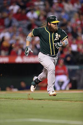 Photograph - Oakland Athletics V. Los Angeles Angels by Paul Spinelli