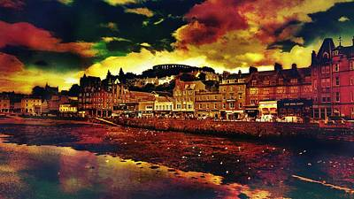 Colourful Wall Art - Photograph - Oban In Scotland by Chris Drake