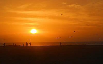 Photograph - Ocean Sunset by AJ  Schibig