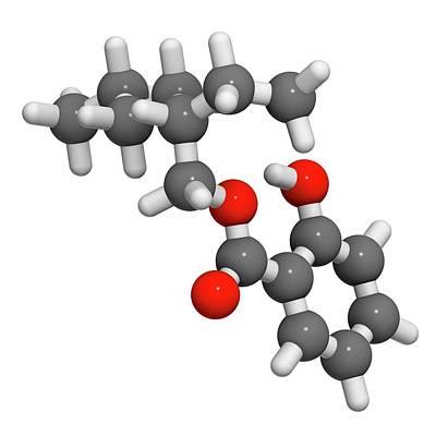 Ultraviolet Photograph - Octyl Salicylate Sunscreen Molecule by Molekuul