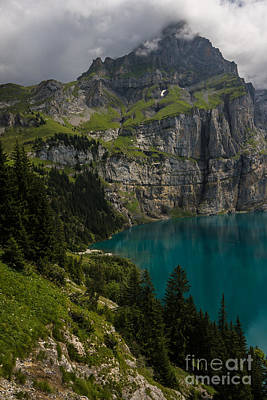 Oeschinensee - Swiss Alps - Switzerland Art Print