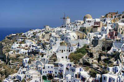 Photograph - Oia Town by David Birchall