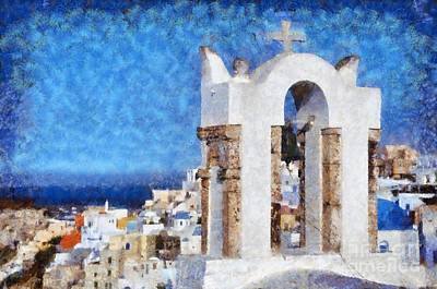 Painting - Oia Town by George Atsametakis