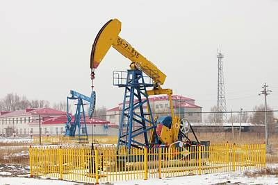 Oil Field In Daqing Art Print by Ashley Cooper