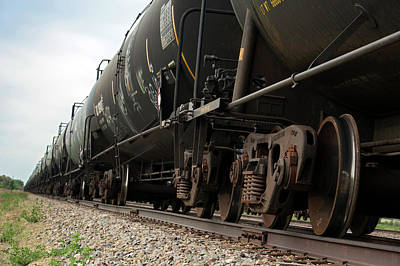 Oil Industry Photograph - Oil Tanker Train by Jim West