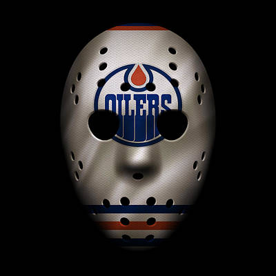 Photograph - Oilers Jersey Mask by Joe Hamilton