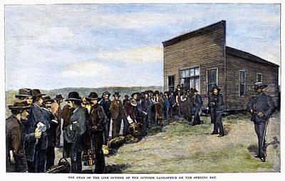 Oklahoma Land Rush, 1889 Art Print by Granger