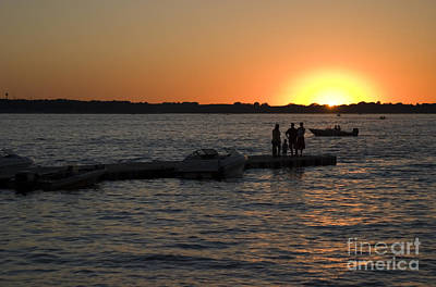 Steven Krull Royalty-Free and Rights-Managed Images - Okoboji Sunset by Steven Krull
